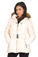 Cream Padded Puffer Jacket