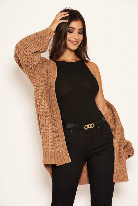 Rust And Black Striped Knit Jumper