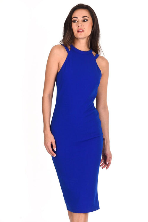 Cobalt Double Strap Midi Dress