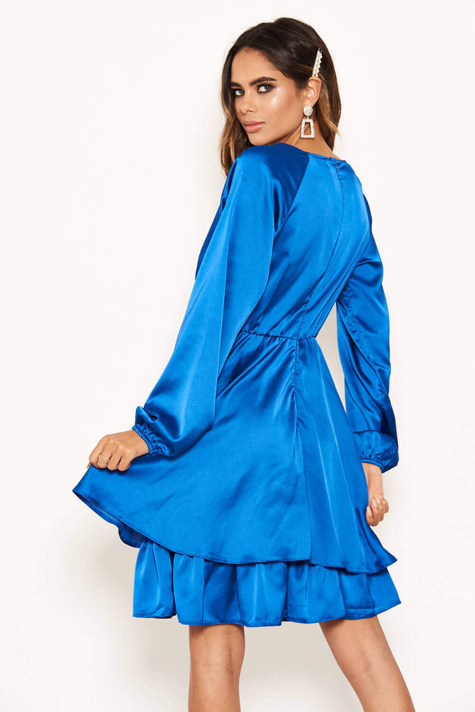 Cobalt Satin Dress