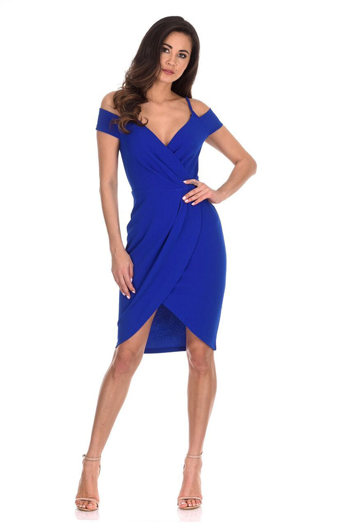 Cobalt Wrap Around Dress