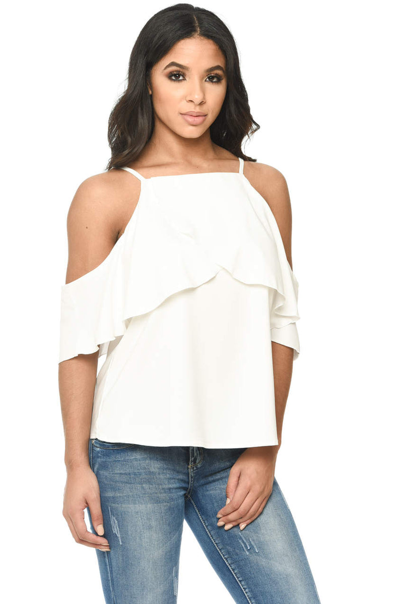 Cream Cami With Frill Detail