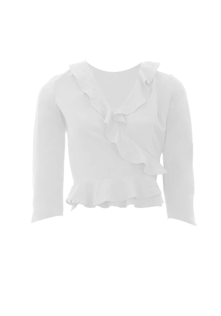 Cream Frill Detailed Top