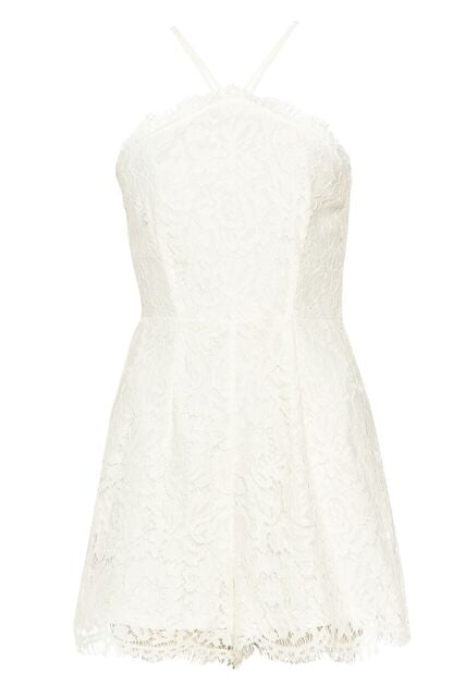 Cream Lace Playsuit