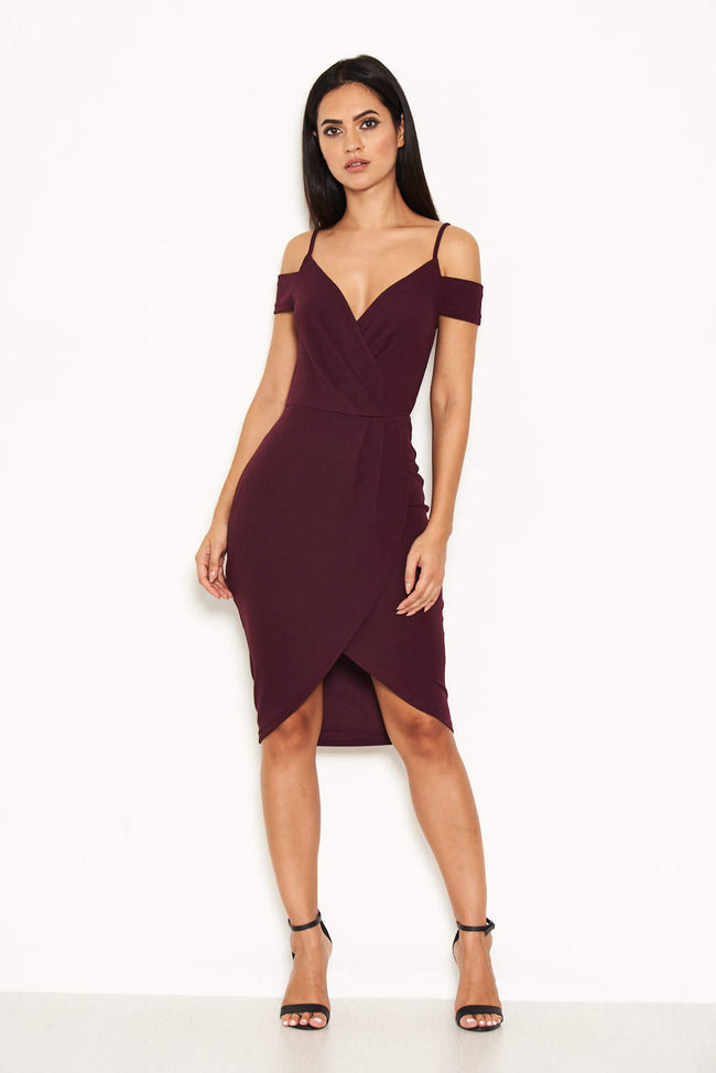 Plum Wrap Around Dress