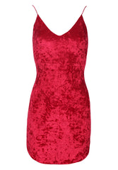 Red Crushed Velvet dress