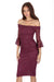 Plum Bardot Lace Dress