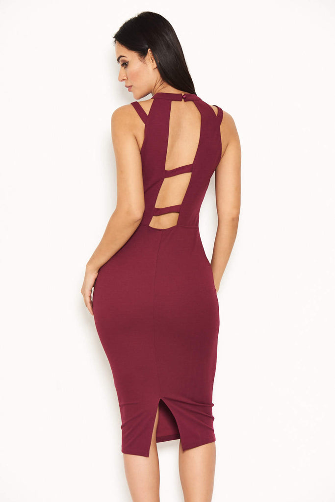 Plum Double Strap Midi Dress