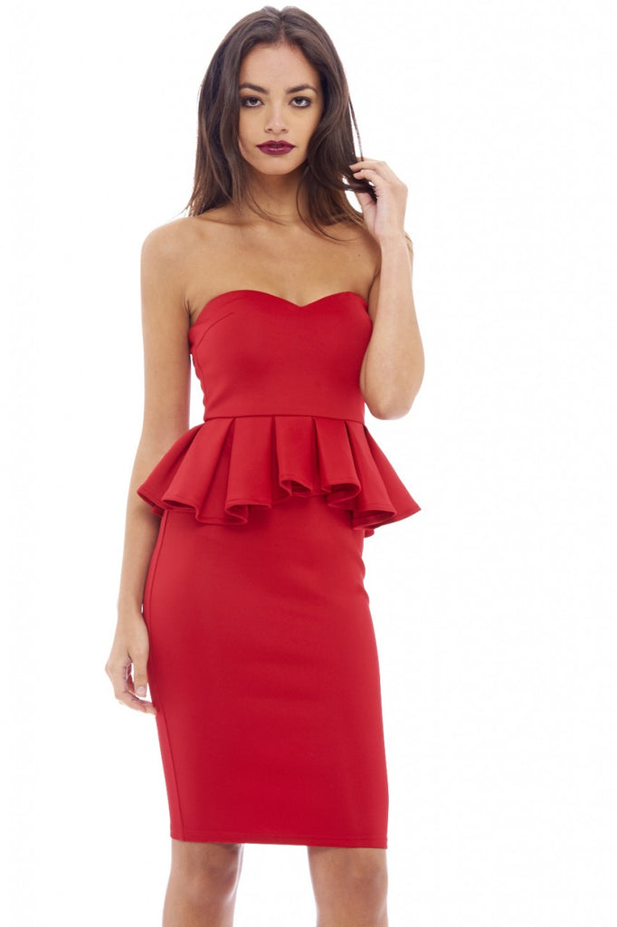 Boobtube Peplum Midi Dress
