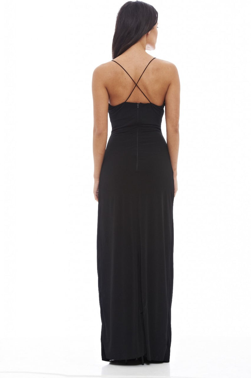 Slinky Cut Out Maxi Dress