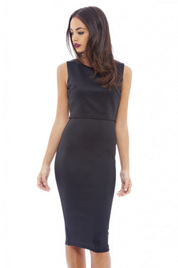 Sleeveless Overlay Midi Dress