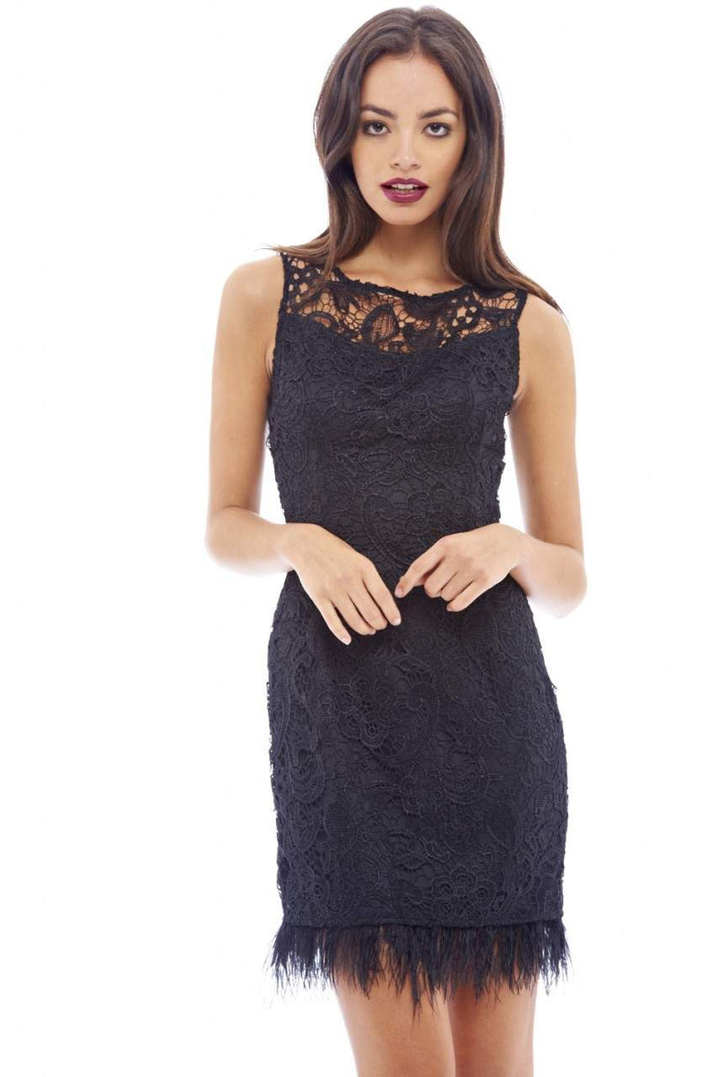 Lace Crochet Detail Bodycon Dress