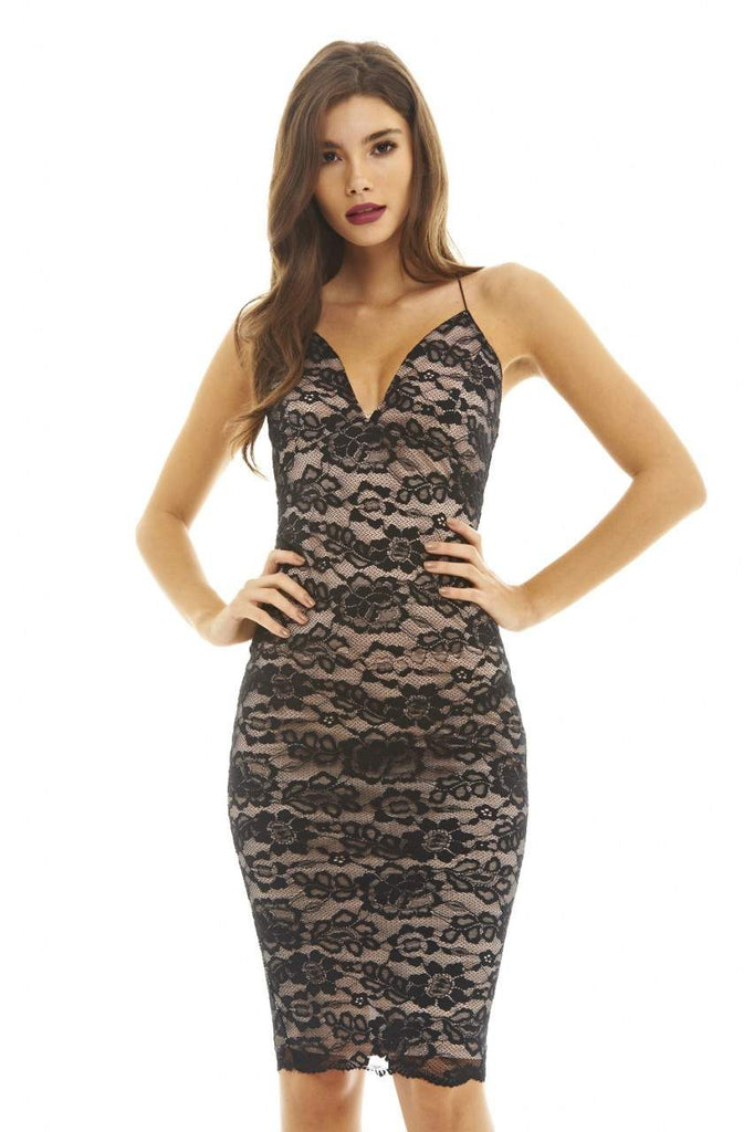 Lace Strappy Bodycon Dress