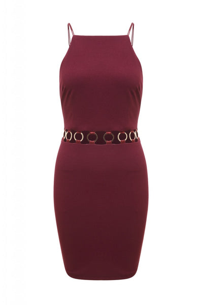 Cut Out Waist Mini Dress