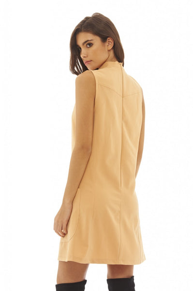 High Necked Shift Dress