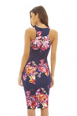 Floral Printed Bodycon Dress