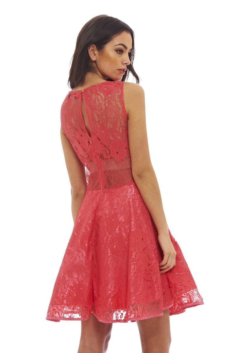 All-Over Lace Skater Dress