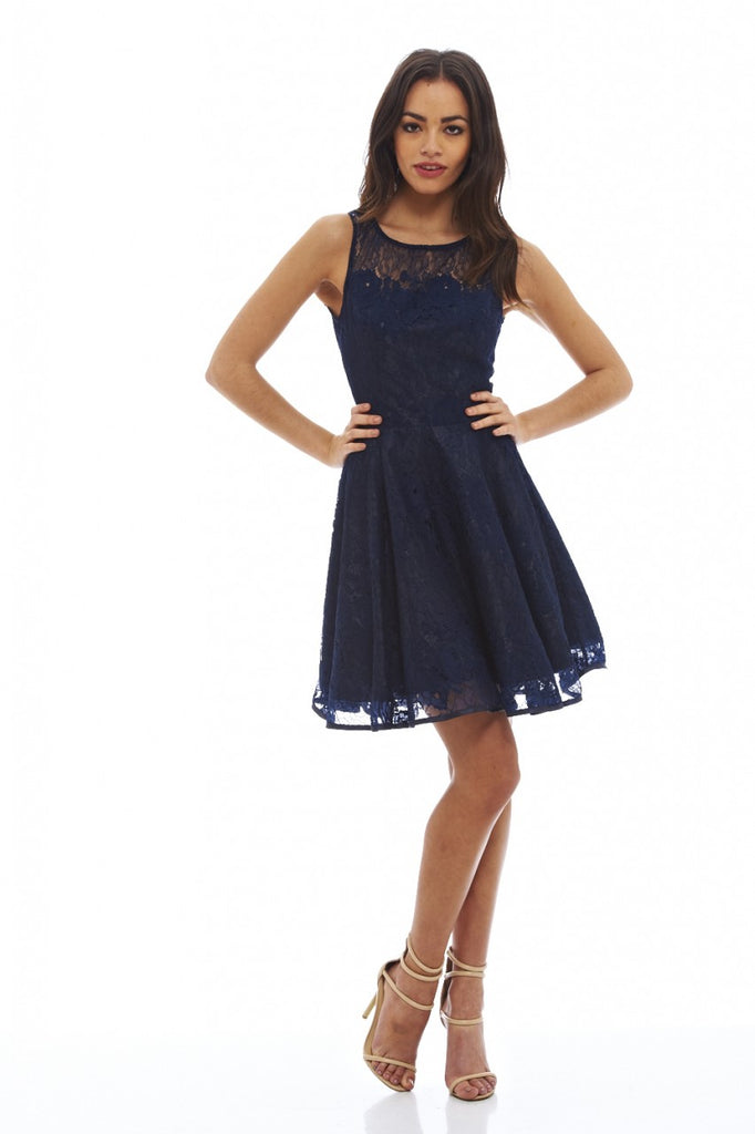 82d6bd78b6 All-Over Lace Skater Dress – AX Paris