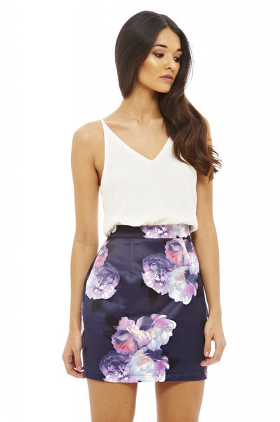 2 in 1 Floral Dress