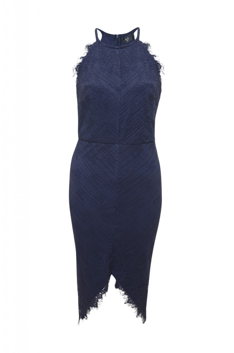 Raw Edged  Lace Bodycon Dress