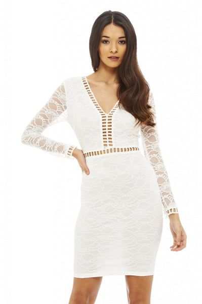 Lace Ladder Detail Dress