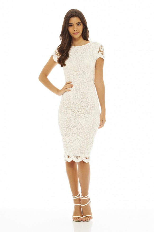 Crochet Lace Midi Dress