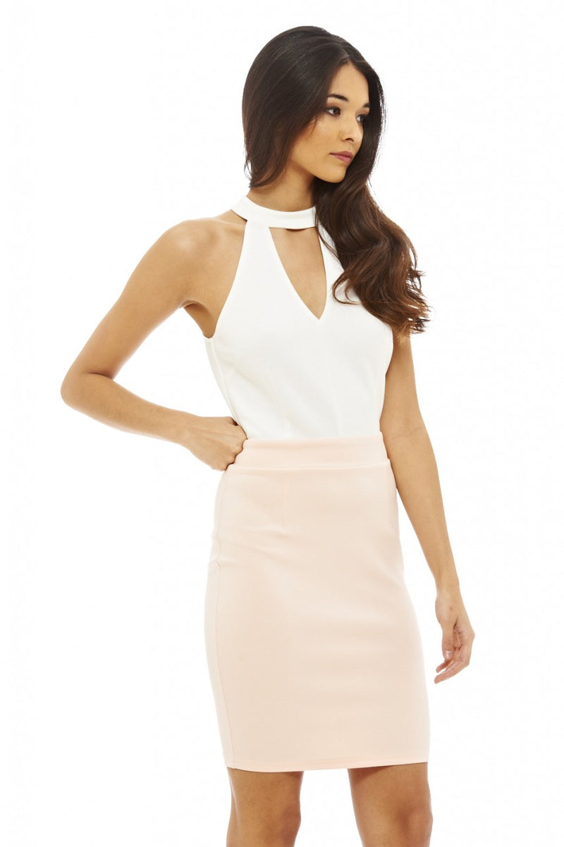Cut Out Front Bodycon Dress