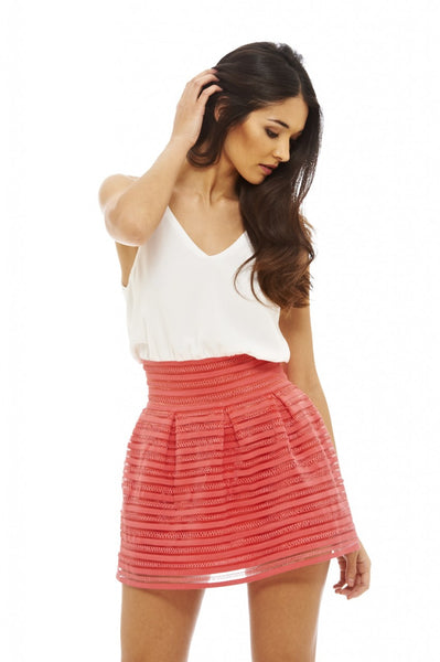2 in 1 Elastic Skirt Dress