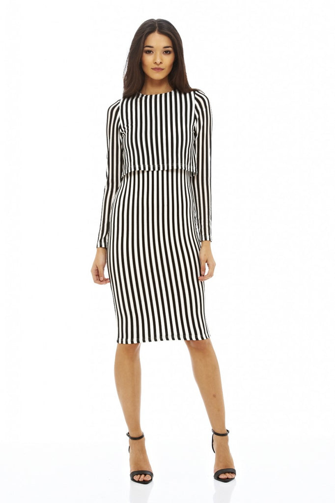 Stripey Over Lay Dress