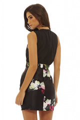Black 2 In 1 Floral Mini Dress