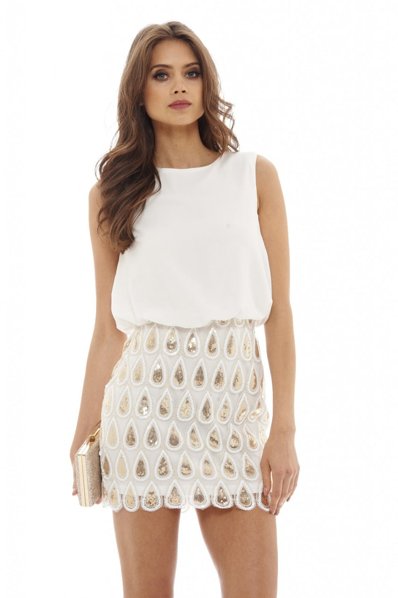 Sequin Skirt Dress