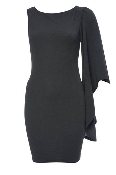 Black One Sleeve Bodycon Dress