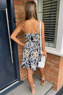 Navy Tropical Print Day Dress