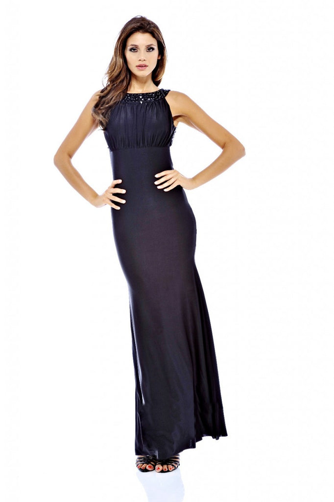 Jewel  Strap Backless  Maxi