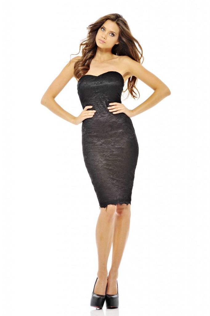 Boobtube Lace Midi Dress