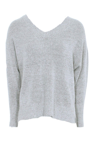 Grey V Neck Jumper