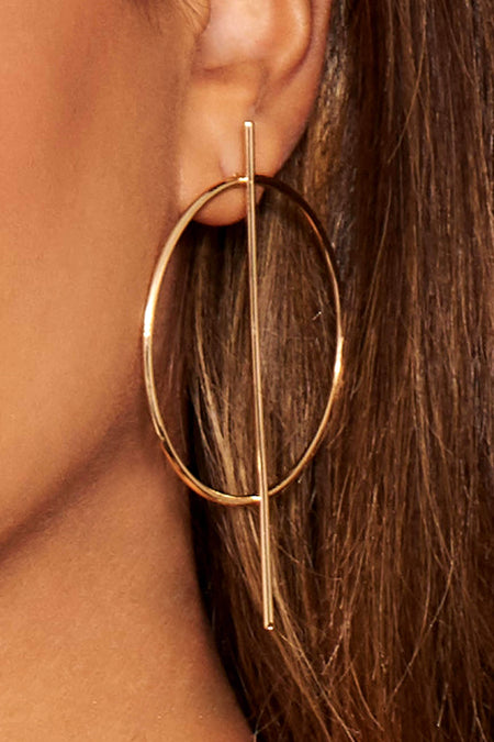 Rose Gold Sleek Drop Earrings