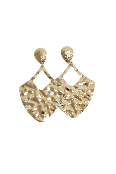 Gold Hammered Effect Earrings