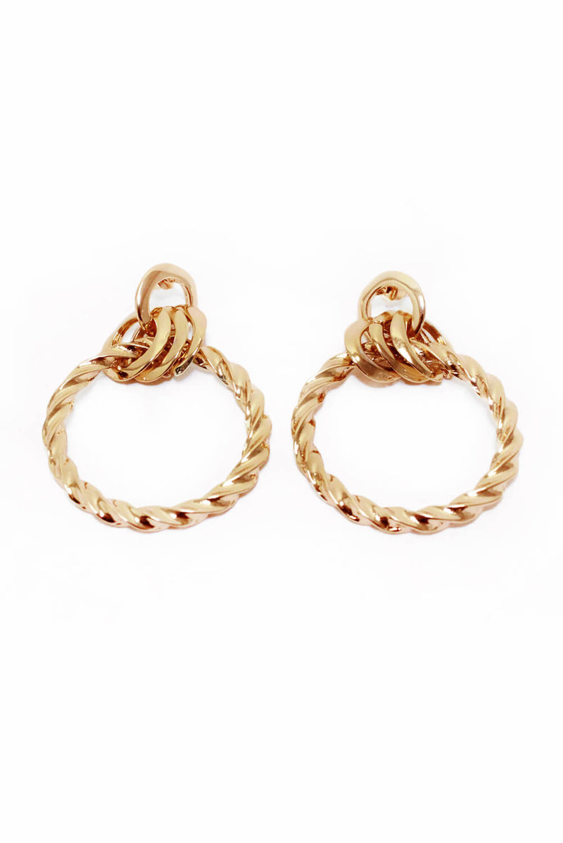 Gold Spiral Hoop Earrings