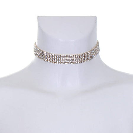 Gold and Silver Diamante Choker