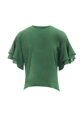 Green Frill Sleeve Top