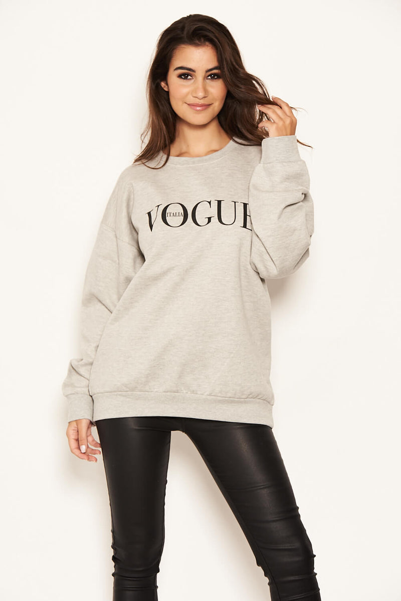Grey Printed Sweatshirt