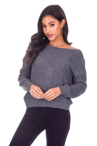 Grey Reversible Twist Knot Jumper