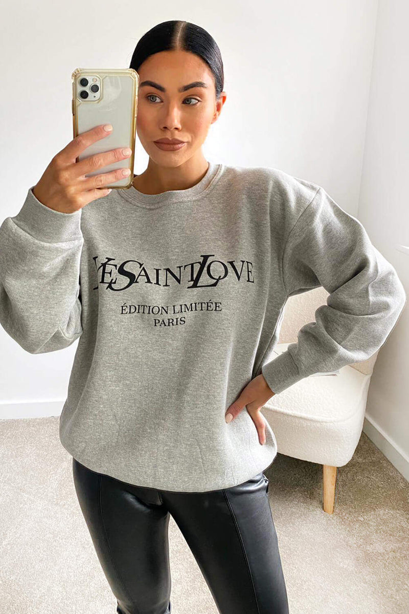 Grey YSLOVE Sweatshirt
