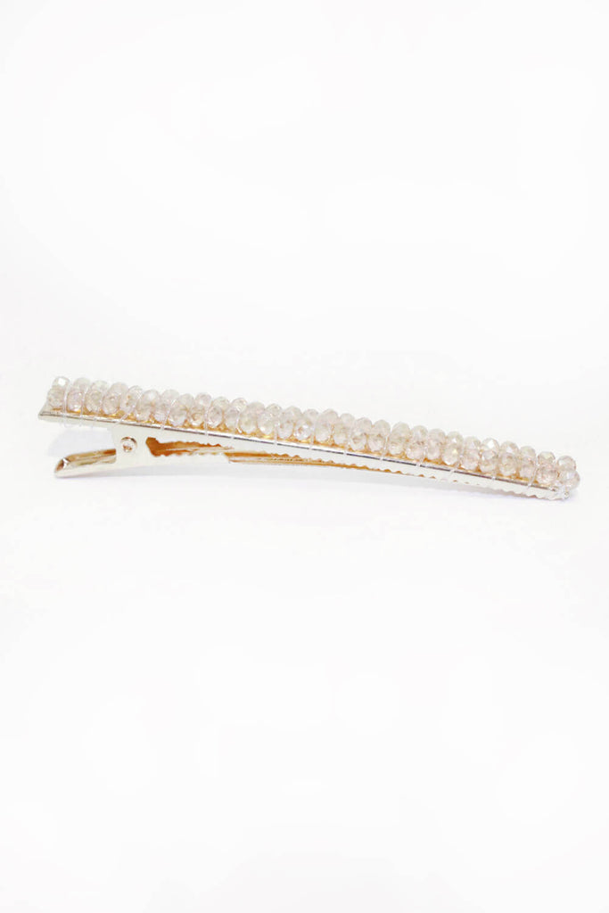 Rose Gold Beaded Hair Clip