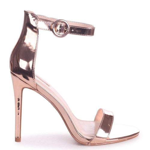 NENA - Rose Gold Nappa Barely There Heel