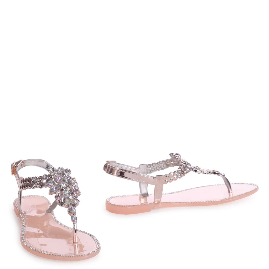 66efe3f5d CHAR - Nude Jelly Heavily Embellished Toe Post Sandal – AX Paris