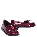 ROSEMARY - Burgundy Patent Classic Slip On Loafer