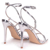 EFFIE - Silver Chrome Strappy Stiletto Heel