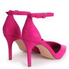 MACI - Fuchsia Suede Stiletto Court Heel With Ankle Strap